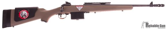 "Picture of Used Savage 11 Scout Bolt Action Rifle - .308 Win, 18"" Barrel, 10 rd  Magazine, FDE Accustock w/ Cheek Riser, Peep sight, Picatinny Scout Rail, Salesman Sample"