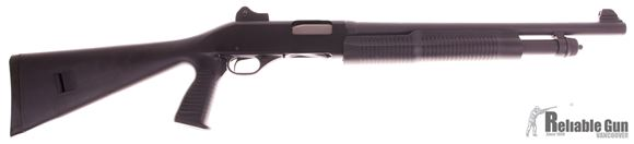 "Picture of Used Stevens 320 Security Pump Action Shotgun- 12 Gauge, 18.5"" Barrel, Ghost Ring Sight, Synthetic Stock W/Pistol Grip, 5rd, Salesman Sample"