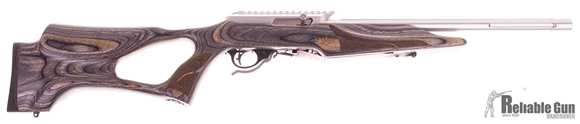 Picture of Used Tactical Solutions X-Ring Semi-Auto 22LR, Silver Finish, Laminate Thumbhole Stock, One Mag & Original Case, As New Condition