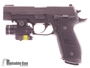 Picture of Used Sig Sauer P226 Tacops Semi-Auto 9mm, With Streamlight TLR-4, Tritium Rear & Fiber Optic Front Sights, 4 Mags & Soft Case, Very Good Condition