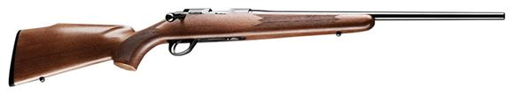 """Picture of Sako Finnfire II Rimfire Bolt Action Rifle - 17 HMR, 22"""", Blued, Cold Hammer Forged Light Hunting Contour Barrel, Matte Oil Walnut Monte Carlo Style Stock, 4rds, No Sight, 2-4lb Adjustable Trigger"""