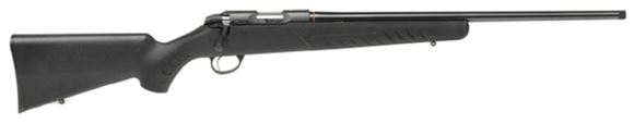 """Picture of Sako Quad Rimfire Bolt Action Rifle - 17 HMR, 22"""", Blued, Free Floating Cold Hammer Forged Hunting Contour Barrel, Black Synthetic Stock, 5rds, Single Stage 2-4lb Adjustable Trigger"""