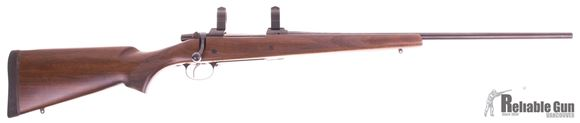 Picture of Used CZ 550 American Bolt Action Rifle, 9.3 x 62, Walnut Stock, No Sights, 24'' Barrel, Set Trigger, With Warne 1'' Rings, Very Good Condition