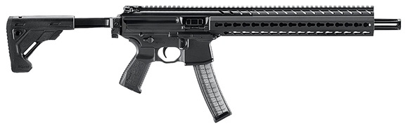 "Picture of SIG Sauer MPX Semi Auto Carbine - 9mm Luger, 16"", Hard Coat Anodized, Aluminum KeyMod Handguard, Muzzle Device, Folding Collapsing Stock, 5/30rds, Ambidextrous Controls"