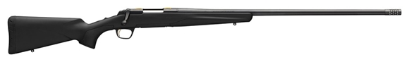 """Picture of Browning X-Bolt Stalker Long Range Bolt Action Rifle - 308 Win, 26"""" Matte Heavy Sporter Barrel, Muzzle Brake, Dura-Touch Armor Coating, Black Finish, 3rds"""