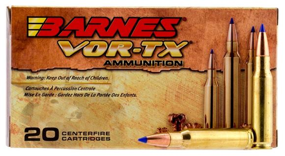 Picture of Barnes VOR-TX Premium Hunting Rifle Ammo - 30-30 Win, 150Gr, TSX FN, 200rd Case