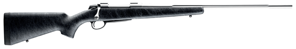 """Picture of Sako A7 Roughtech Pro Bolt Action Rifle - 7mm Rem Mag, 24.4"""", Stainless Steel, Cold Hammer Forged Medium Contour Fluted Barrel, Black w/Grey Spider Web Rough Surface Texture Stock w/Fully Integrated Aluminium Bedding, 3rds, 2-4lb Adjustable Trigger"""