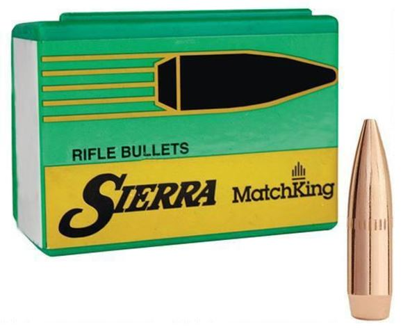"Picture of Sierra Rifle Bullet, MatchKing - 22 Caliber (.224), 77Gr, HPBT Cannelure, 500ct Box, (7""-8"" Twist Barrels Only)"