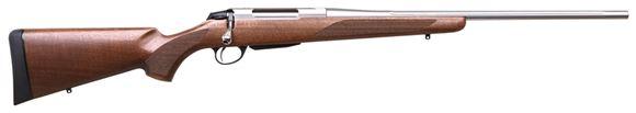 "Picture of Tikka T3X Hunter Bolt Action Rifle - 308Win, 22.4"", Fluted, Stainless, Matte Oiled Walnut Stock, 3rds, No Sights"
