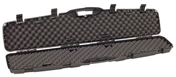 "Picture of Plano Pro-Max Single Scoped Rifle Case - 53.25"" x 12 x 4.13"", High-density Interlocking Foam, Black, Patented PillarLock System"