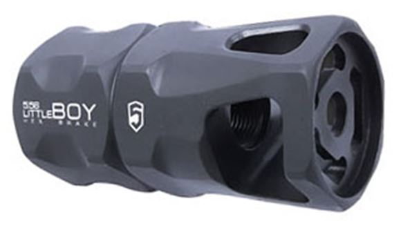 Picture of Phase 5 Weapon Systems AR15 Accessories - Little Boy Hex Brake Muzzle Device, 223/5.56, 1/2-28, Black Parkerized