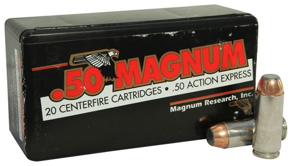 Picture of Magnum Research Inc Handgun Ammo - 50 Action Express Magnum, 350Gr, JSP, 20rds Box