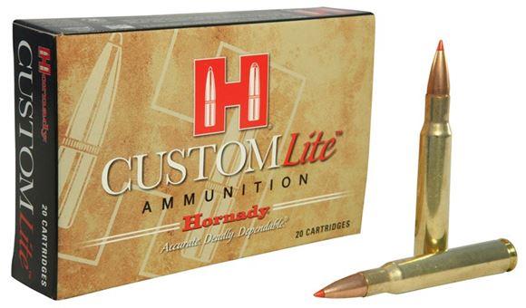 Picture of Hornady Custom Lite Rifle Ammo - 30-06 Sprg, 125Gr, SST Custom Lite, Reduced Recoil, 200rds Case
