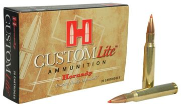 Picture of Hornady Custom Lite Rifle Ammo - 30-06 Sprg, 125Gr, SST Custom Lite, Reduced Recoil, 20rds Box