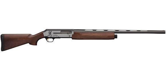 "Picture of Browning Silver Hunter Micro Midas Semi-Auto Shotgun - 12Ga, 3"", 26"", Lightweight Contour, Vented Rib, Polished Blued, Matte Silver Aluminum Alloy Receiver, Satin Grade I Turkish Walnut Stock, 4rds, Brass Bead Front Sight, Invector-Plus Flush (F,M,IC)"