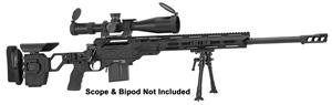 "Picture of Cadex Defense CDX-30 GUARDIAN Rifle - 6.5 Creedmoor, 26"", 1-8"" Twist, Black, DX2 Trigger, Oversized Cross Hatch Bolt Knob, 10rds, Skeleton Buttstock, 20 MOA Rail *INCLUDES MUZZLE BRAKE*"