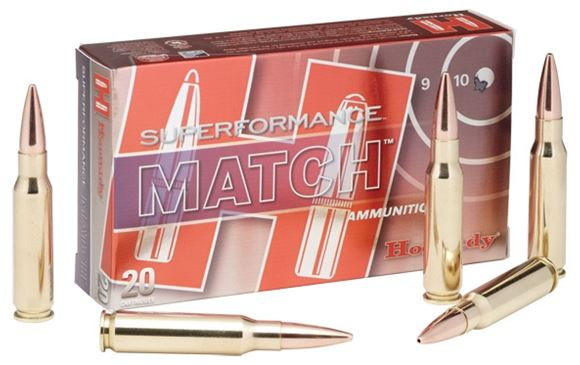 Picture of Hornady Match Rifle Ammo - 5.56 NATO, 75Gr, BTHP, 20rds Box