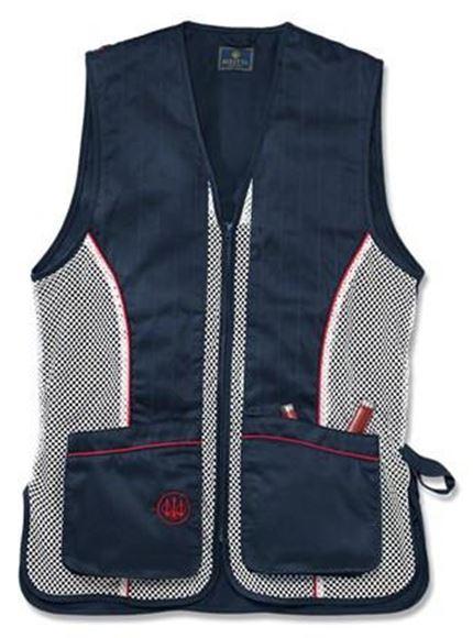 Picture of Beretta Men's Clothing, Vests - Beretta Silver Pigeon Vest, Adult, Navy,XXXL