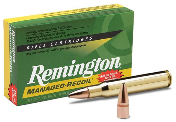 Picture of Remington Managed-Recoil Core-Lokt Centerfire Rifle Ammo - 30-06 Sprg, 125Gr, Core-Lokt, PSP, 20rds Box