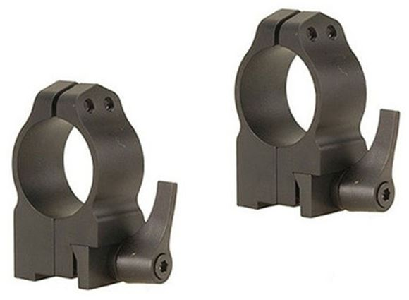 "Picture of Warne Scope Mounts Rings, CZ - For CZ 550 (19mm Dovetail), 1"", Quick Detach, High (.535""), Matte"