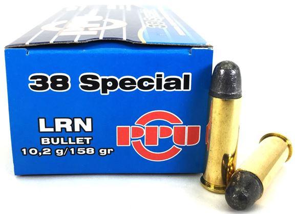 Picture of Prvi Partizan (PPU) Handgun Ammo - 38 Special, 158Gr, LRN, 500rds Case