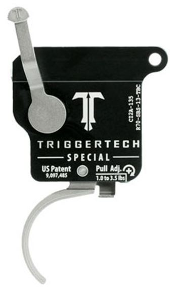 Picture of Trigger Tech, Remington 700 Trigger - Special Frictionless Trigger, Curved, Single Stage, 1-3.5 lbs, Stainless
