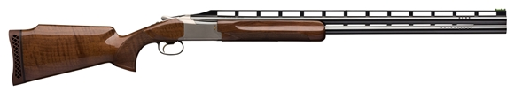 """Picture of Browning Citori 725 Trap Over/Under Shotgun - 12Ga, 2-3/4"""", 30"""", Ported, Vented Rib, Polished Blue, Silver Nitride Steel Receiver, Gloss Oil Grade III/IV Black Walnut Stock, HiViz Pro-Comp Front & Ivory Mid-Bead Sights, Invector-DS Flush"""