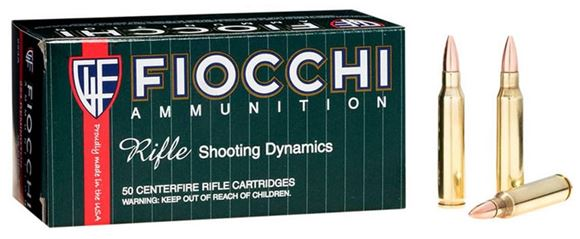 Picture of Fiocchi Centerfire Rifle Ammo - 223 Rem, 55Gr, FMJ, 50rds Box