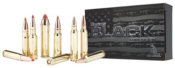 Picture of Hornady Black Rifle Ammo - 300 AAC Blackout, Subsonic, 208Gr, A-MAX, 20rds Box
