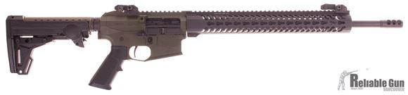 "Picture of Used Alberta Tactical Rifle Modern Varmint 223 Wylde, 18.6"" Lilja Barrel, Muzzle Brake, ERGO Stock, Samson Evolution 15"" Hanguard, Timney Trigger, Troy Flip Up Sights, Very Good Condition"