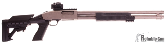 Picture of Used Mossberg 590 Marine, 12- Gauge, 20'' Barrel, Collapsable Stock, Tri Rail Forend, Bushnell Red Dot (TRS25), Good Condition