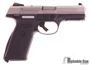 """Picture of Used Ruger SR9 Single Action Semi-Auto Pistol - 9mm, 4.14"""", Brushed Stainless, Stainless Steel, Black Glass-Filled Nylon Grip Frame, 2x10rds, Adjustable 3-Dot Sights, Original Box, Very Good Condition"""