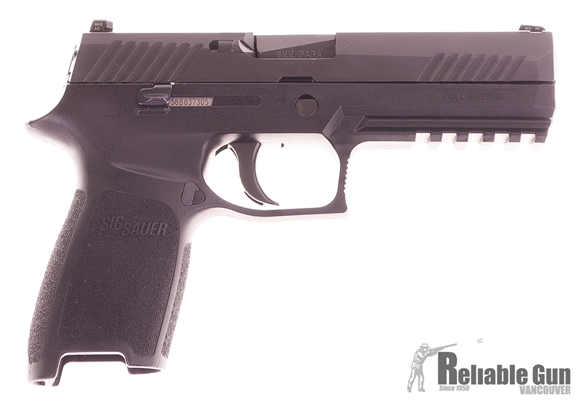 Picture of Used Sig Sauer P320 9mm Pistol w/SigLite Night sights, 2 Mags, Original Box. Excellent Condition