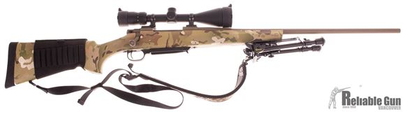 Picture of Used Howa 1500 Multicam Bolt Action Rifle 300 Win Mag, w/Vortex 3.5-10x50, leupold Mounts, 1 Magazine, Caldwell Bi Pod, Sling, Buttstock Shell Holder, Very Good Condition