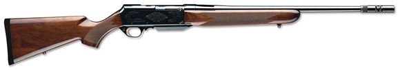 """Picture of Browning BAR Mark II Safari Semi-Auto Rifle w/Boss - 300 Win Mag, 24"""", Sporter Contour, Hammer Forged, Polished Blued, Engraved Steel Receiver, Gloss Grade I Turkish Walnut Stock, 4rds"""