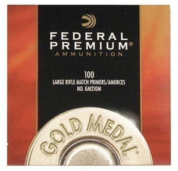 Picture of Federal Components, Federal Premium Gold Medal Centerfire Primers - Large Rifle Match, 1000ct Brick