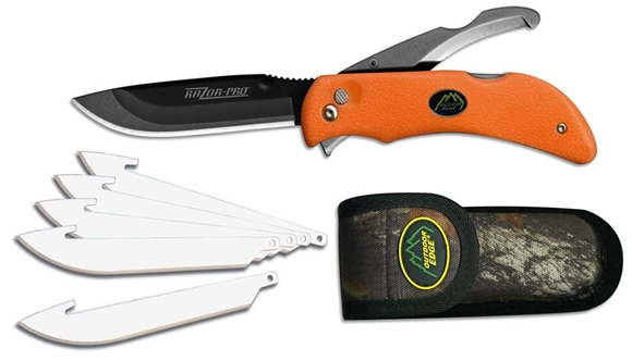 Picture of Outdoor Edge Razor-Lite Series - Razor-Pro, Blaze Orange Handle, Camo Sheath