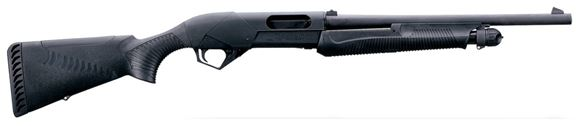 """Picture of Benelli Super Nova Tactical Pump Action Shotgun - 12Ga, 3-1/2"""", 18"""", Blued, Black Synthetic ComforTech Stock, 4rds, Rifle Style Sights, Fixed Cyl"""