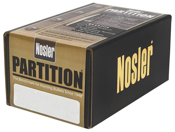"Picture of Nosler Bullets, Partition - 375 Caliber (.375""), 300Gr, Spitzer, 50ct Box"