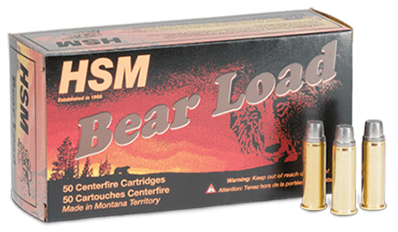 "Picture of HSM Bear Load Rifle Ammo - 357 Mag, 180Gr, RNFP Gas Check ""Bear Load"", 50rds Box"