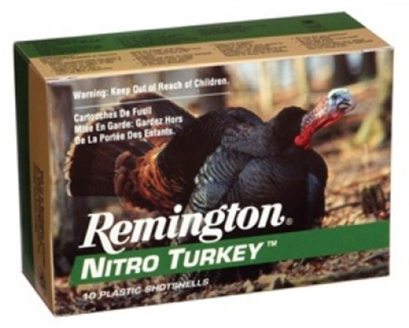 "Picture of Remington Nitro Turkey Extended Range Magnum Load Shotgun Ammo - 12Ga, 3-1/2"", MAX DE, 2oz, #5, Buffered, 1300fps"