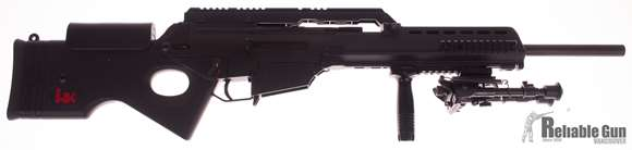 Picture of Used HK SL8-4 Semi-Auto .223, With Accessory Rails & Bipod, 3 HK Mags & AR Mag Adapter, Good Condition