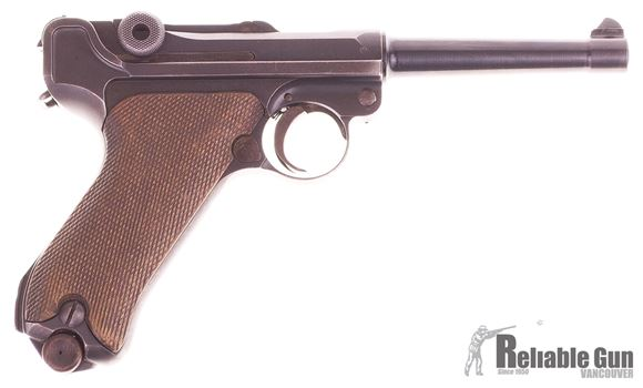 Picture of Used DWM Luger, 9mm Re-Barreled to 107mm, Original Barrel Profile, 1 Magazine (Rust on Magazine)