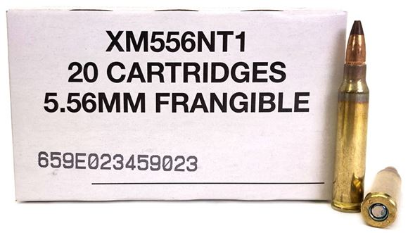 Picture of Federal Rifle Ammo, XM556NT1 - 5.56x45mm NATO, 50Gr, Reduced Ricochet Limited Penetration (R2LP) round, Semi-Jacketed Frangible, Non-Toxic Primer, 500rds Case