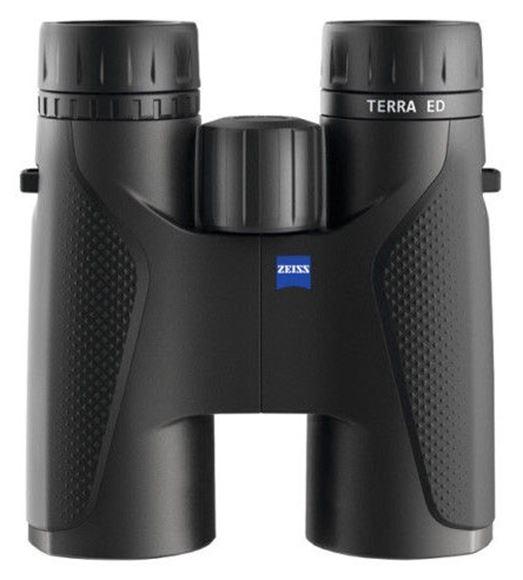 Picture of Zeiss Hunting Sports Optics, TERRA ED Binoculars - 10x42mm, Matte Black, Schott ED Glass, 100 mbar Water Resistance, Nitrogen Filled