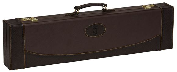 """Picture of Browning Gun Cases, Fitted Gun Cases - Encino II Fitted Case, 34"""" x 8.75"""" x 3.25"""", Chestnut/Coffee, Wood Frame, Synthetic Leather Shell, Molded w/Synthetic leather Covering Handle"""