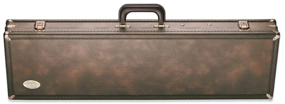 """Picture of Browning Gun Cases, Fitted Gun Cases - Traditional Universal Over/Under & BT Trap Shotgun Takedown Case, 35.5"""" x 8.75"""" x 3.75"""", Holds 1xStock+Receiver+Barrel, Classic Brown, Wood Frame, Vinyl Shell"""