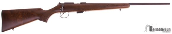 "Picture of Used CZ 455 American Rimfire Bolt Action Rifle - 22 LR, 20-1/2"", Hammer Forged, Polycoat, Walnut Stock, 1 Magazine, YoDave's Trigger Shim And Spring Kit, Excellent Condition"