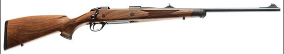 "Picture of Sako 85 Left-Hand Bavarian Bolt Action Rifle - 30-06 Sprg, 20"", Cold Hammer Forged Light Hunting Contour, Matte Blue, Bavarian Style Matte Oil Walnut Stock w/Palm Swell, 5rds, Adjustable Iron Sights, Single Set 2-4lb Adjustable Trigger"