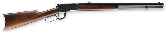 """Picture of Winchester Model 1892 Short Lever Action Rifle - 357 Mag, 20"""", Gloss Blued, Oil Finish Grade I Walnut Straight Grip Stock w/Crescent Buttplate, 10rds, Marble's Gold Bead Front & Buckhorn Rear Sights"""